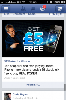 IMG 2589 220x330 Facebooks mobile display ads are gambling with my patience