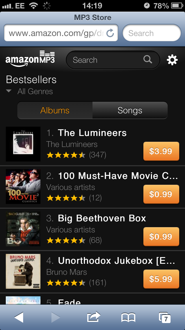 IMG 5069 Amazon looks to reduce Apples hold on music sales with launch of MP3 web store for iPhone and iPod touch