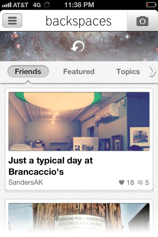 Fledging storytelling app Backspaces passes 50k users and 90k stories, refines Web presence