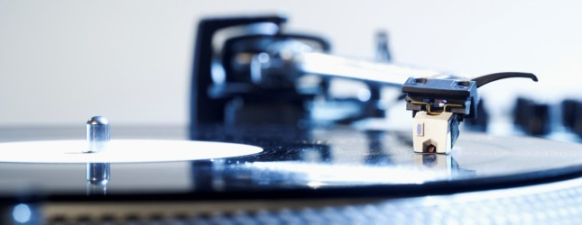 Record player, close-up