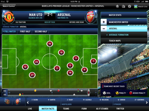 SSA BSkyBs updated Sky Sports iPad app makes everyone a football analyst with formation maps and more