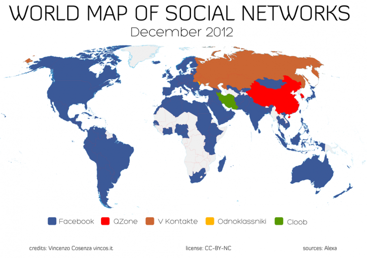 WMSN1212 1024 730x514 World map of top social networks shows just five left, Facebook dominates 127 out of 137 countries