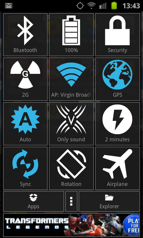 a5 Hive Settings: This app gives you easy access to all your Android devices settings