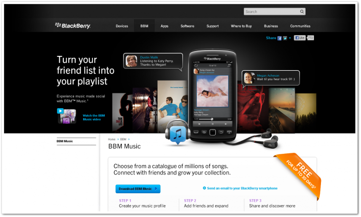 bbmusic1 730x439 RIMs BlackBerry World store gets music and video content, rolling out to all users in coming weeks