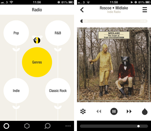 bloomscreens1 Bloom.fm combines Internet radio, streaming and a local music player into one stunning iPhone app