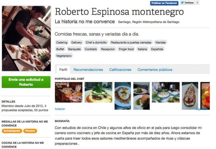 chef surfing profile 730x504 With 1,000 registered cooks, Chef Surfing has its focus set on the Latin American market