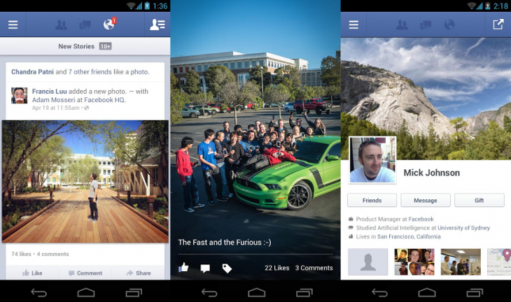 facebook android update 730x432 Facebook for Android updated with faster photo viewing, broader story sharing, and voice messages