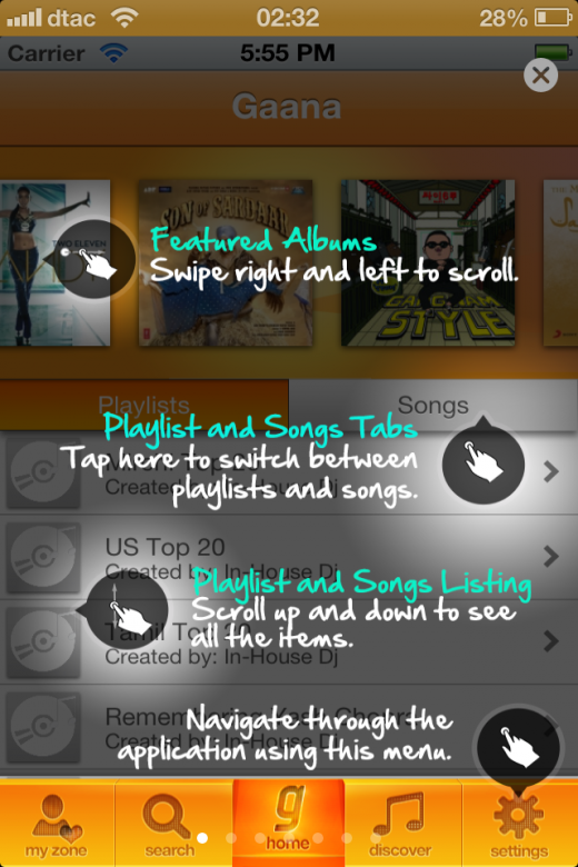 iPhone 001 520x780 Gaanas free Indian music service goes mobile with iOS, Android, BlackBerry and J2ME apps