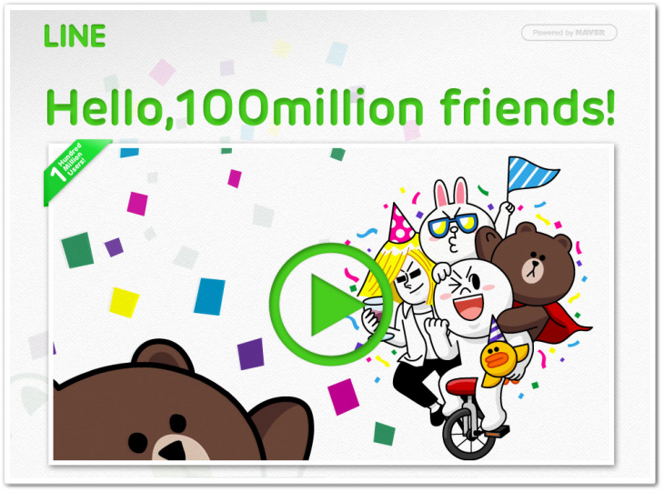 line 100m 730x541 Asian messaging app Line passes 100 million downloads, just 18 months after launch