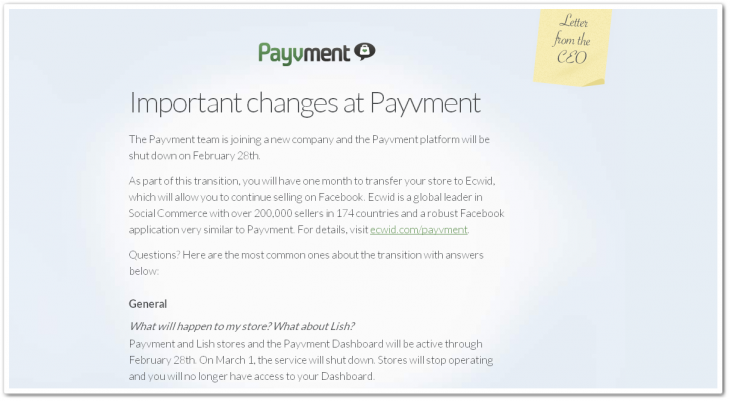 payvment 730x401 F Commerce not paying out? Payvment sells its 200k users to Ecwid, is acquired by mystery company