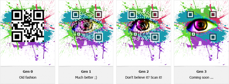 qr code generations 730x269 Visualead launches its near invisible QR codes in China, seeks local partners and investors