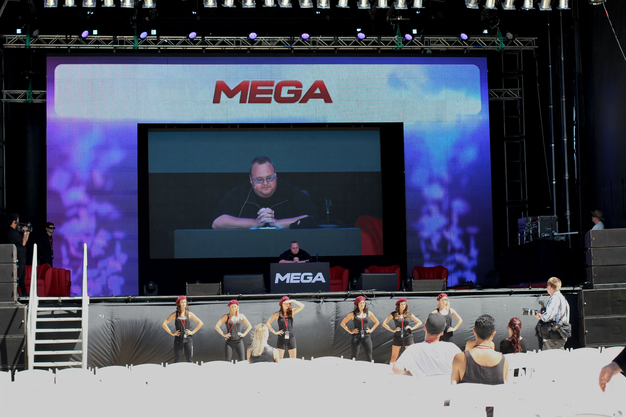 stage Face to face with Kim Dotcom as he launches Mega, talks about Megakey and the future of free content