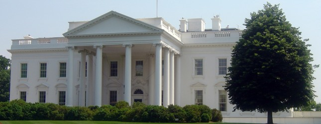 The White House is seen during the heat