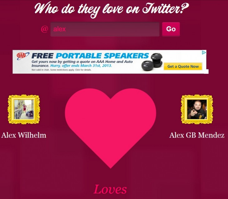 2013 02 14 10h04 57 730x639 Having a bad Valentines Day? Forget that and ask Twitamore who you love most on Twitter