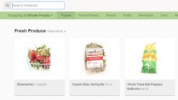 2013 02 27 10h15 00 Weeks after adding Trader Joes, grocery delivery service Instacart now supports Whole Foods