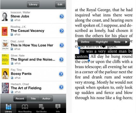Bookish1 520x431 Bookish adds an iOS e reader app to its repertoire, giving access to your saved books on the move