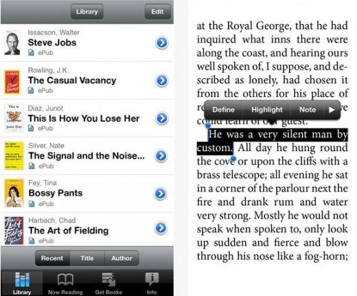 Ios приложение чтения на для е книг