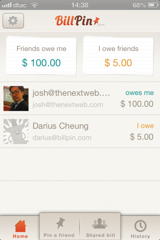 Photo 2013 02 20 02.11.22 PM 520x780 BillPin is a handy app to split bills between friends and keep track of who owes what