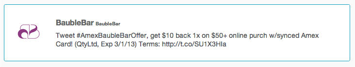 Snap 2013 02 11 at 15.11.16 American Express lets cardholders use hashtags to buy things on Twitter
