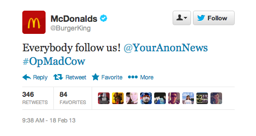 Snap 2013 02 18 at 09.44.11 Twitter suspends Burger Kings verified account after hack that claimed chain sold to McDonalds