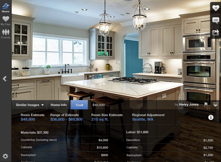 Zillow Digs Estimates 730x533 Zillow moves into home improvement with its new Digs marketplace
