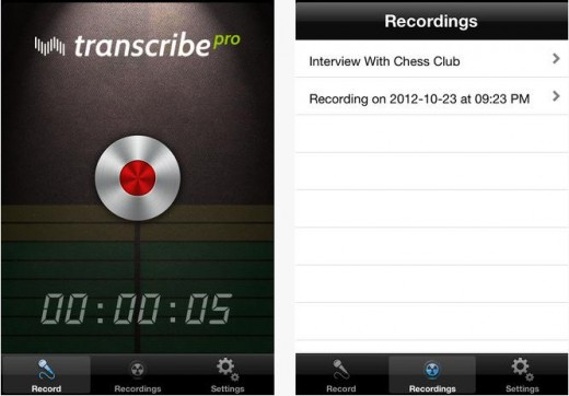a 520x362 Transcribe takes its audio transcription tool Pro, with online accounts, iPhone app and more