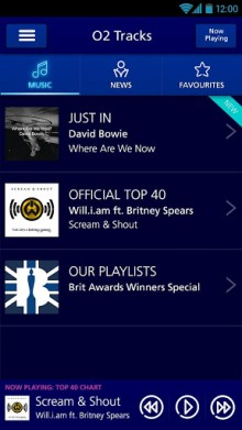 b4 220x391 O2 Tracks brings the UKs official top 40 singles direct to your mobile