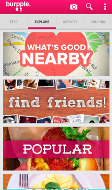 d 220x374 Foodies photo sharing service Burpple finally lands on Android