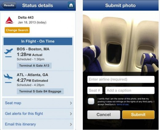 d3 520x424 TripAdvisor launches SeatGuru 2.0 for iOS, with new high res airplane seat maps and user generated photos