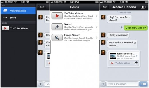 kik cards 520x307 As Facebook focuses on Messenger, expect video calls, games and other new features