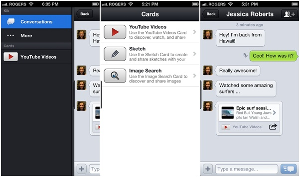 kik cards Kik reaches 100 million users   shows Instagram and Twitter how messaging is done