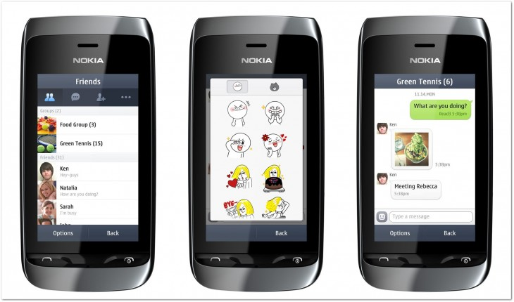 line asha 1 horz 730x430 Mobile chat service Line targets emerging markets with plan to launch Nokia Asha app