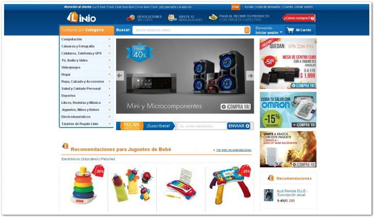 linio page 730x424 Rocket Internet regular Tengelmann invests up to $20m in Linio, its Amazon clone for Latin America
