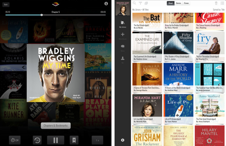 newaudibleipadscreens Amazon's Audible launches on iPad, improving the design of its existing iPhone app along the way