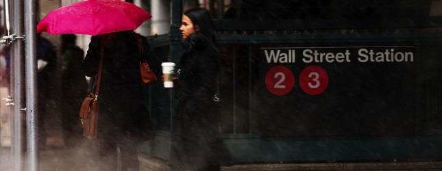 Sleet And Snow Arrive In New York City