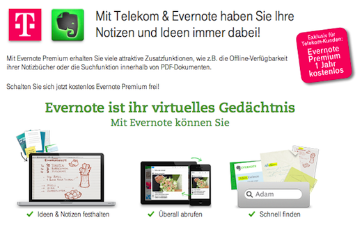 51f031de 4c6c 4dc5 97fe 89b469f4a91a Evernote deal gives 60 million Deutsche Telekom customers 1 year of free premium service