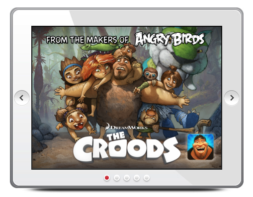 66161bcf 62bd 48e9 807b 7716fdec1ba7 Rovio hooks up with DreamWorks to launch a new iOS and Android game, The Croods, on March 14