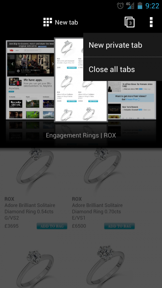 Private tabs 520x924 Operas new WebKit based Android browser is released in beta