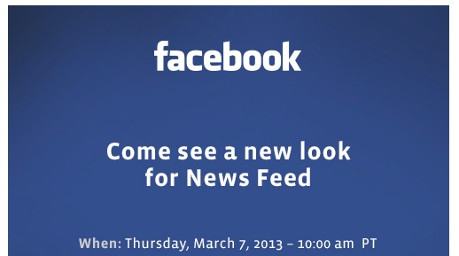 Screen Shot 2013 03 01 at 9.37.27 AM Facebook holding an event to show off a new look for News Feed on March 7th