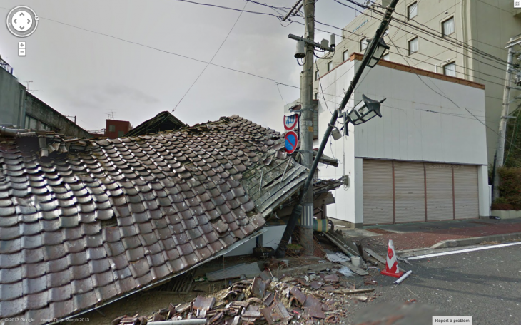 Screen Shot 2013 03 27 at 16.40.04 730x456 Google adds Namie machi to Street View, a small city left deserted by the Fukushima disaster