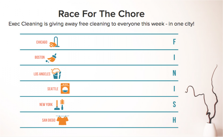 Snap 2013 03 13 at 11.19.13 730x450 EXEC adds NYC, Boston, Chicago, and LA to its cleaning service, launches Race For The Chore contest
