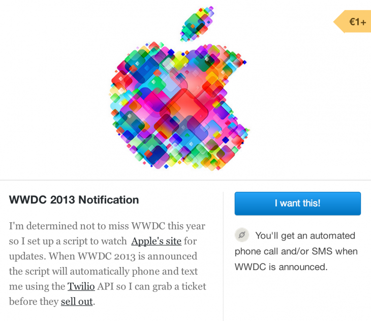 WWDC notification 730x631 Worried Apples WWDC will sell out too fast? Now theres a premium third party alert system