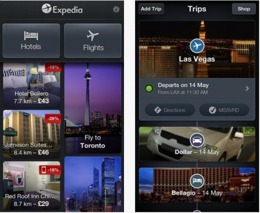 a9 520x427 11 million downloads on, Expedia 3.0 taps live data to create visual itineraries on iOS and Android