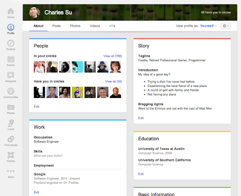 about tab Google+ gets updated with new Local reviews tab, larger cover photos and a redesigned About tab [Updated]