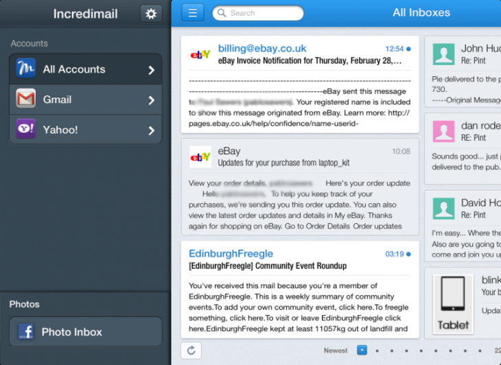c1 730x532 Incredimail for iPad is more than an email client, it could become the ultimate unified messaging app