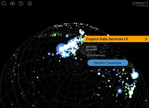 e Map of the Internet: This mobile app visualizes the Internet in 3D