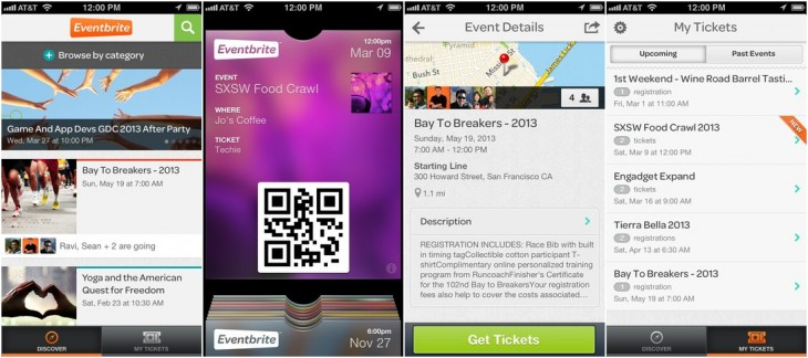 ebcombo 730x324 Eventbrite overhauls its iOS app with new discover view layout and Facebook events integration
