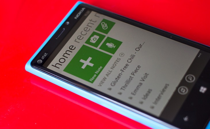 evernote Windows Phone Nokia 730x447 Evernote updates its Windows Phone app with a redesigned home screen, better tags and checkbox support