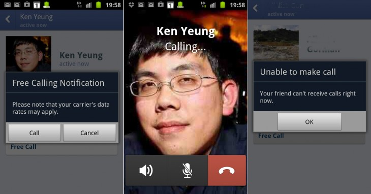 facebook messenger android uk 730x382 Facebook quietly rolling out VoIP calling on its Android Messenger app in the UK