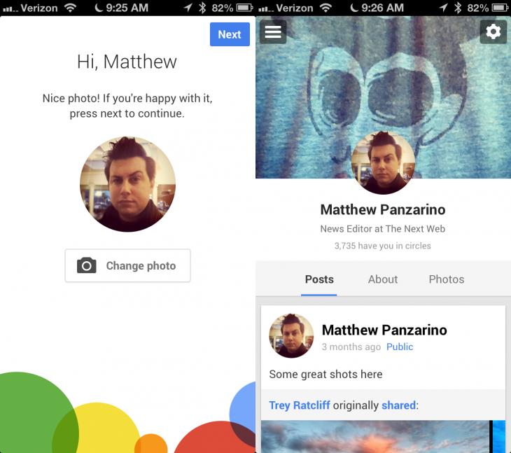 google plus 2 730x647 Google+ apps get big update with photo filters & editing, new profiles, better new user flow, and more